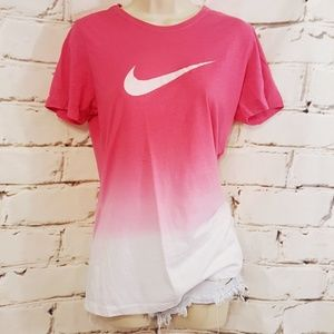 Nike Breast Cancer Ombre Short Sleeve T-Shirt Sz L